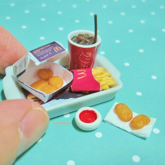 Miniature Mcdonalds Mcnuggets Meal