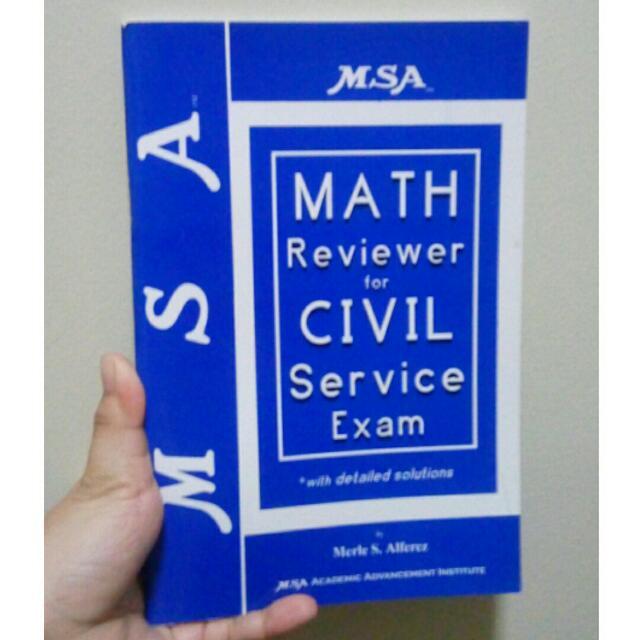 MSA MATH REVIEWER FOR CIVIL SERVICE Exam