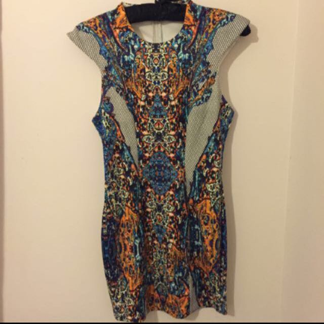 Multicolored Bodycon Dress