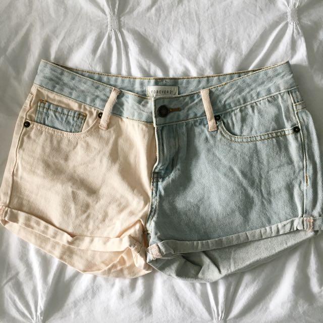 Muti-coloured shorts