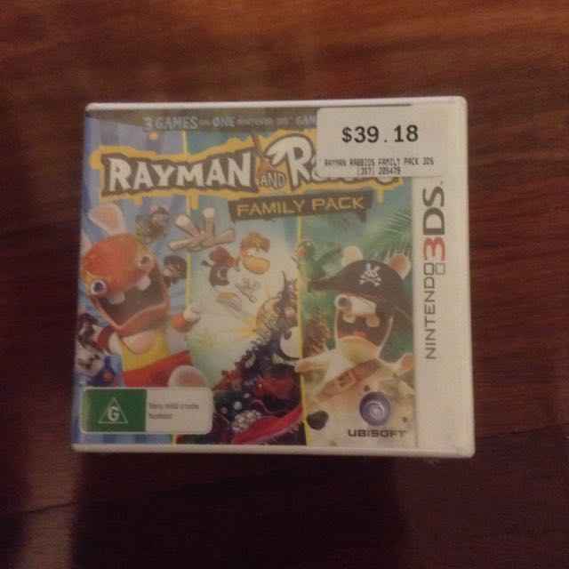 Nintendo 3DS Game: Rayman and Rabbids: Family Pack