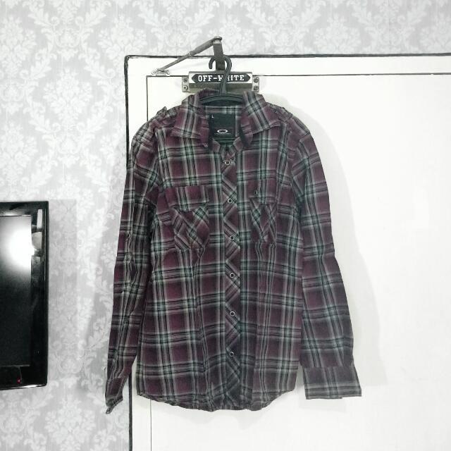 OAKLEY International Purp Flannel