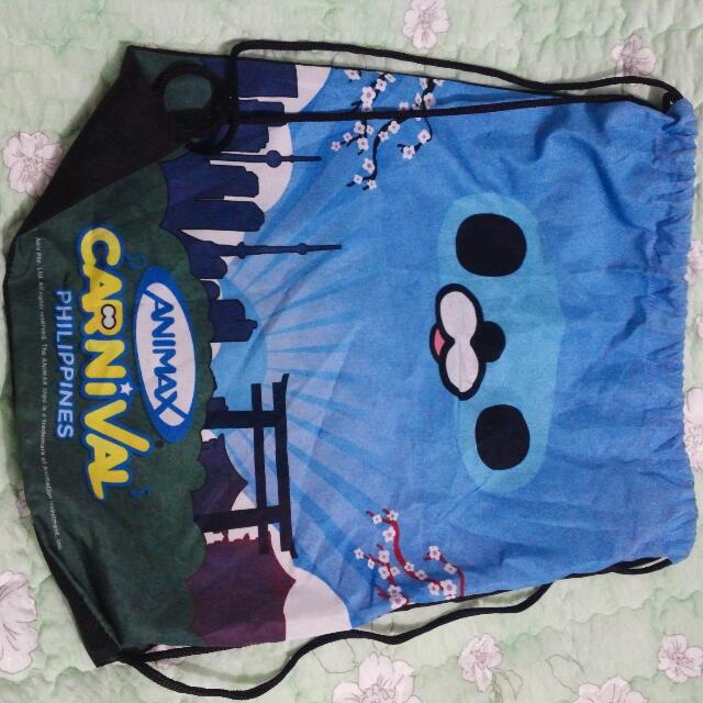 OO-kun draw string bag from Animax Carnival Ph