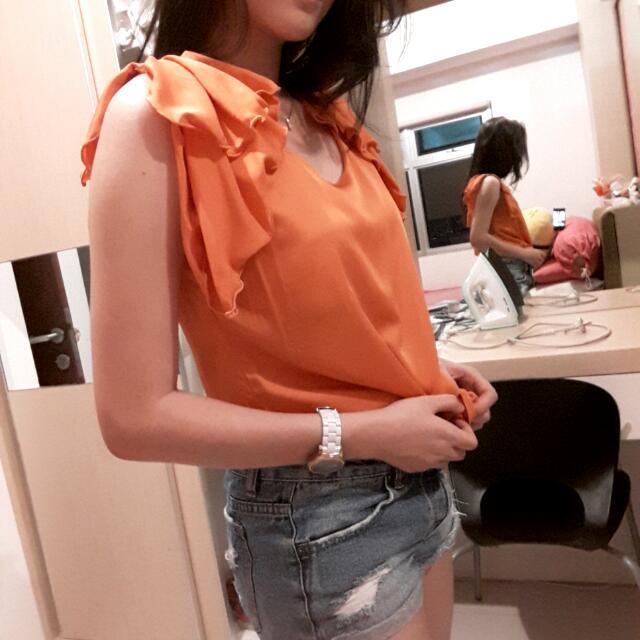 FREE ONGKIR orange top