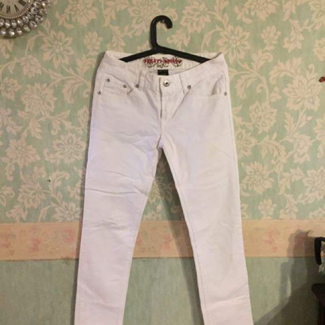 People Are People White Jeans