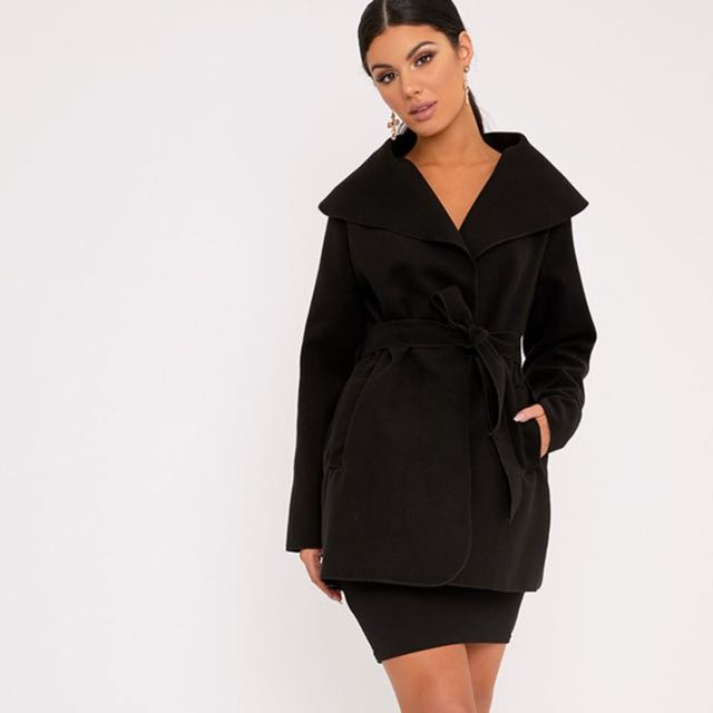PLT Waterfall Belted Coat