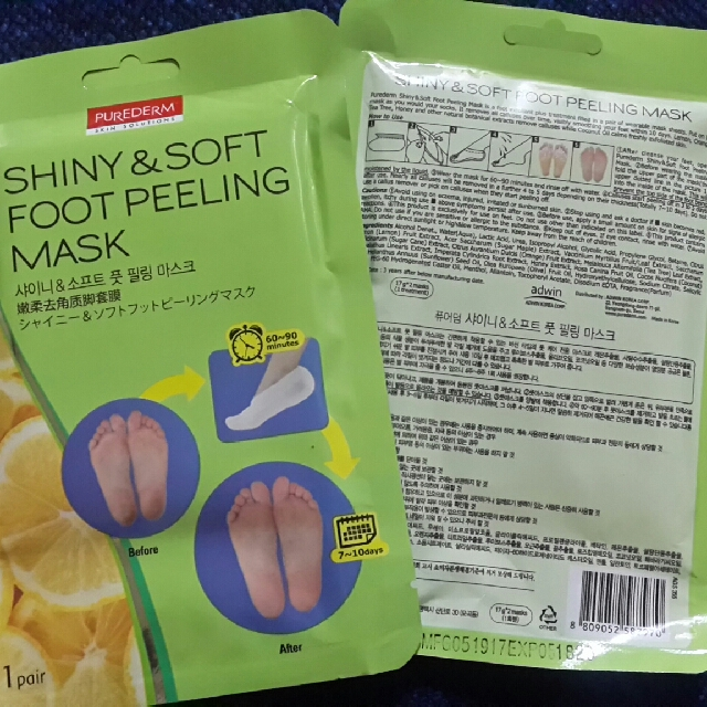 PUREDERM Shiny and Soft Foot Peeling Mask