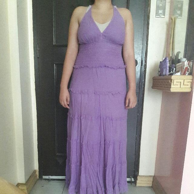 Coachella Purple Long Dress