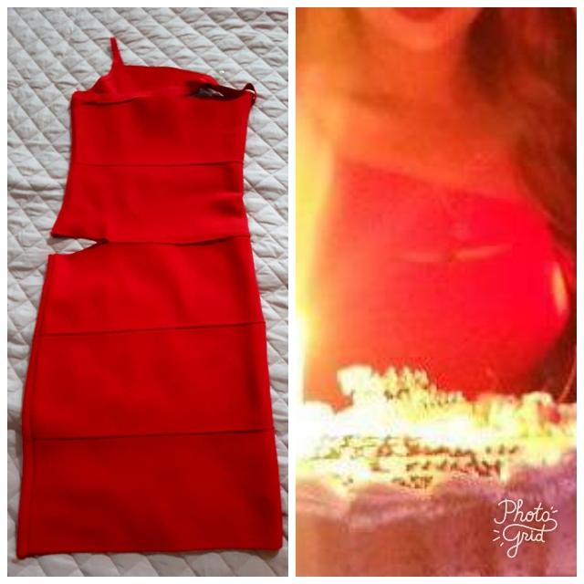Red Toga Dress