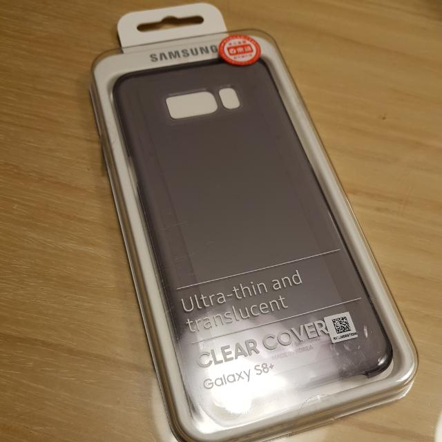S8 Plus 原廠超薄保護蓋,透黑色