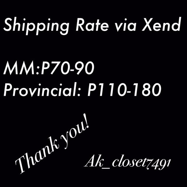 Shipping Rate Via XEND