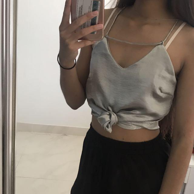 Silver Silky Top