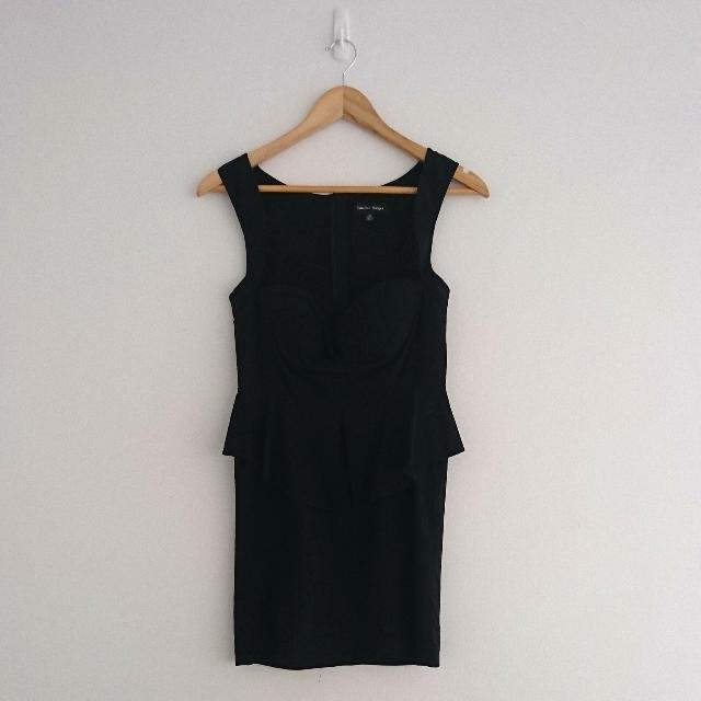 Size 10 Peplum Black Dress