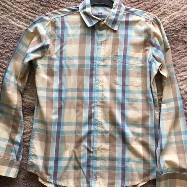 Skelly  Checker Shirt Size Small