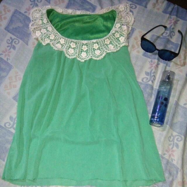 Sleeveless Green Top