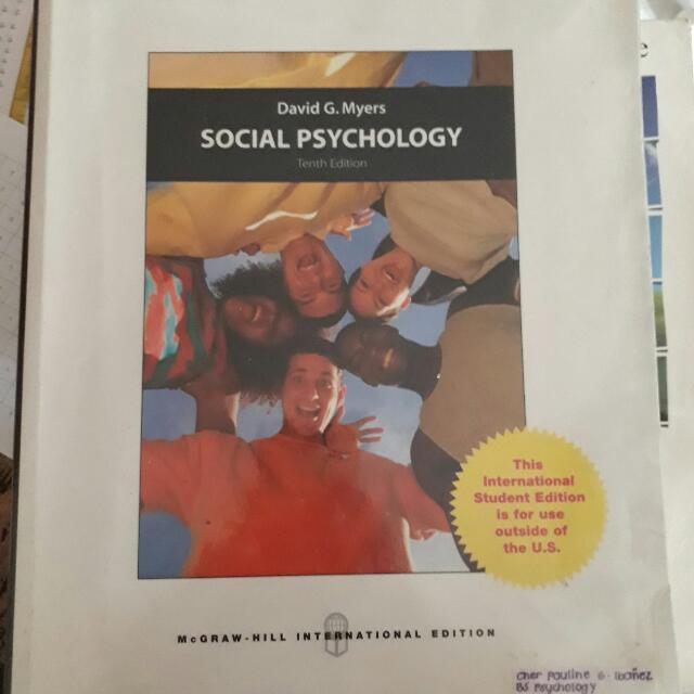 Social Psychology By David Myers