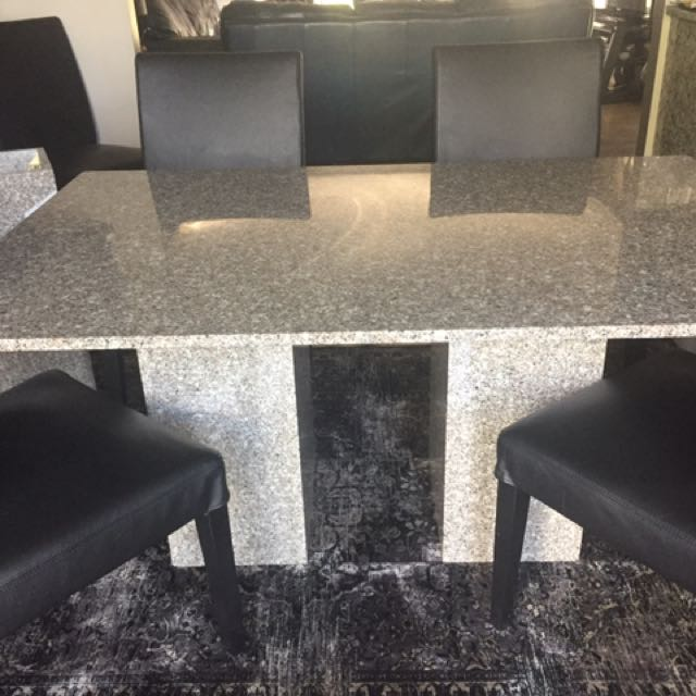 Solid Granite table and Side Table