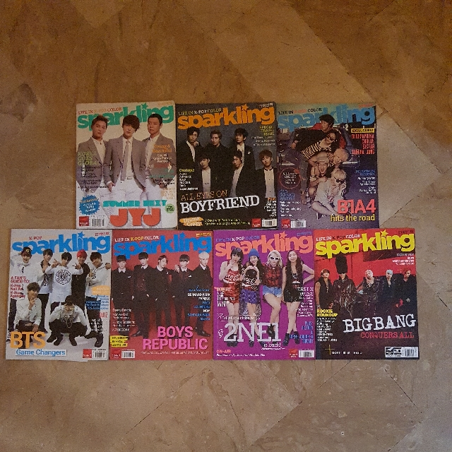 SPARKLING MAGAZINE  (2 2014/2015 fall issue ,2 2014/2015 spring issue , 2 2013/2014 summer issue & 1 2015 winter issue)