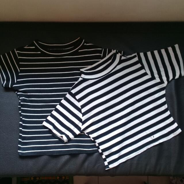 Striped Cropped Tops