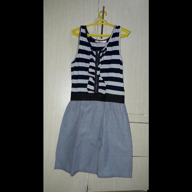 Striped Gray Dress