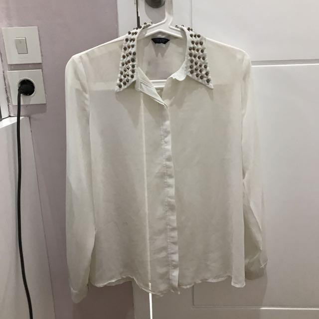 Studded White Shirt