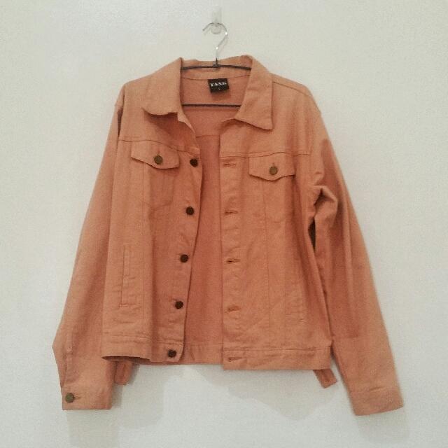 Tank Peach Denim Jacket