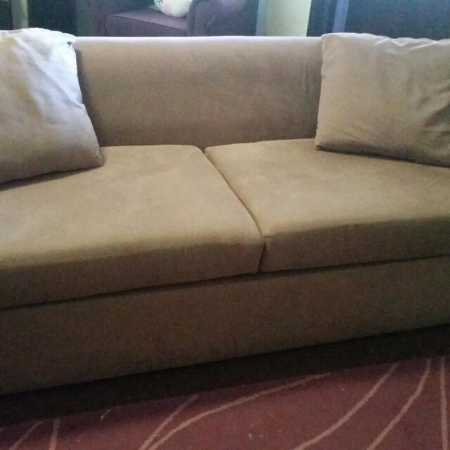 Taupe Fold Out Couch