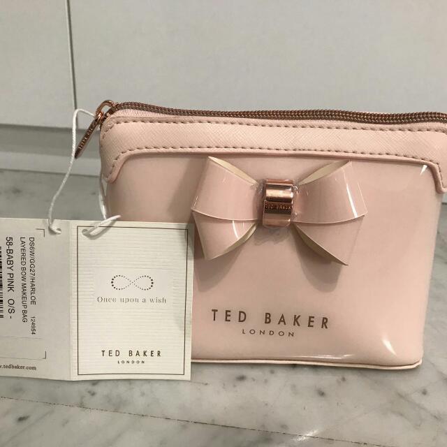 4c45b2f945d7 Ted Baker Harloe Layered Bow Makeup Bag