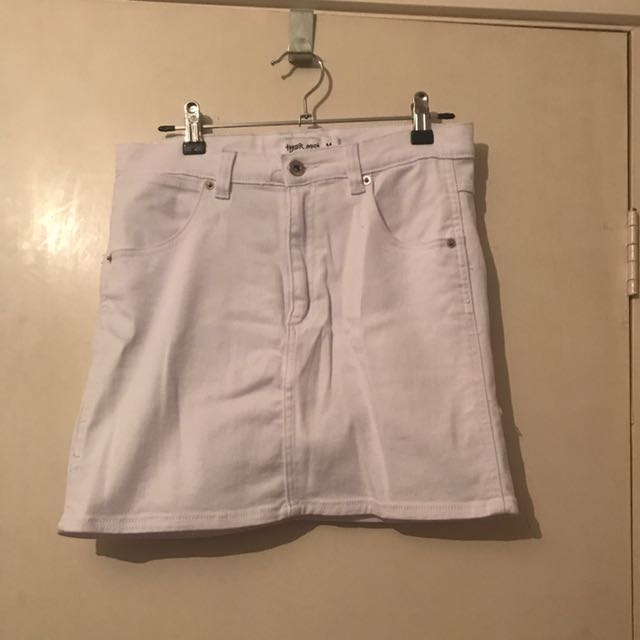 Tigermist White Denim Skirt Size M