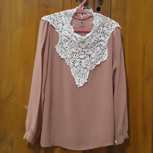 [REPRICE] Top Brokat Mocca