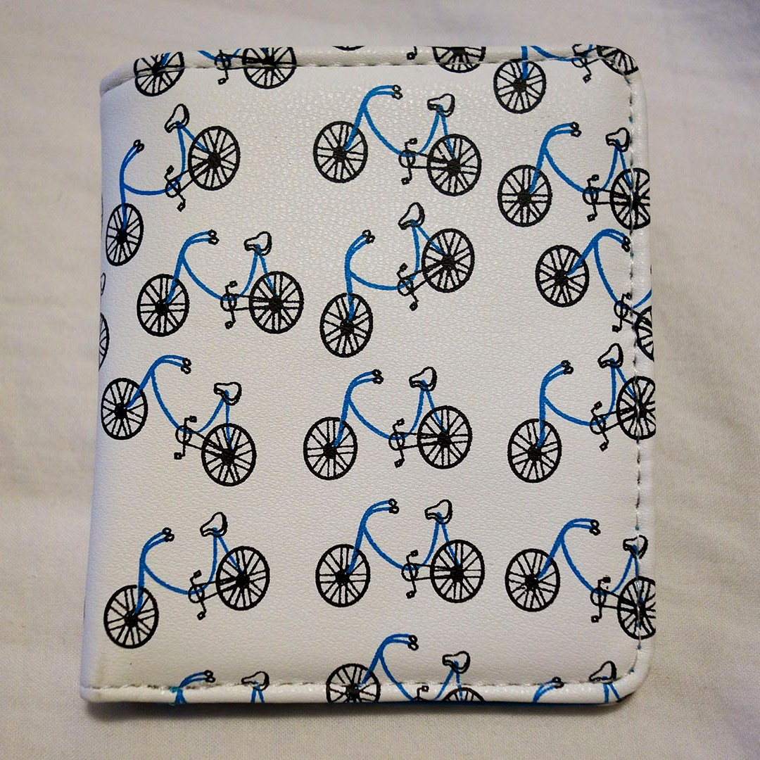 TOPMAN Unisex Wallet - Bicycle Print *Brand New*