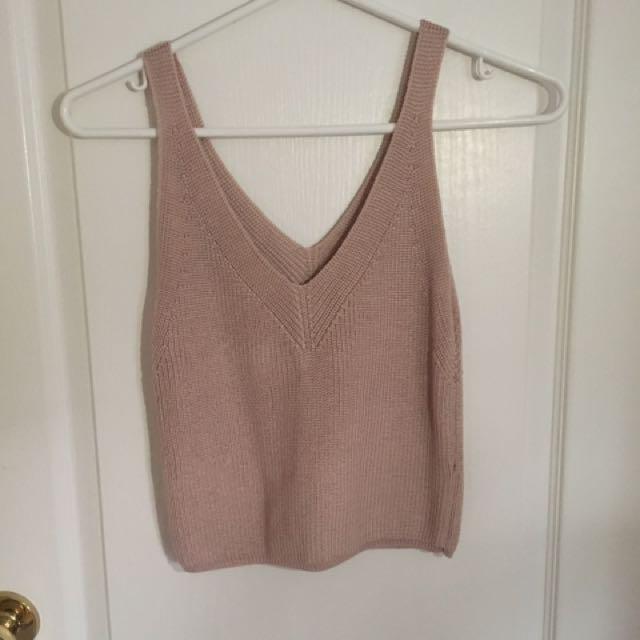 Urban Behaviour Peach Pink Knit Tank Top