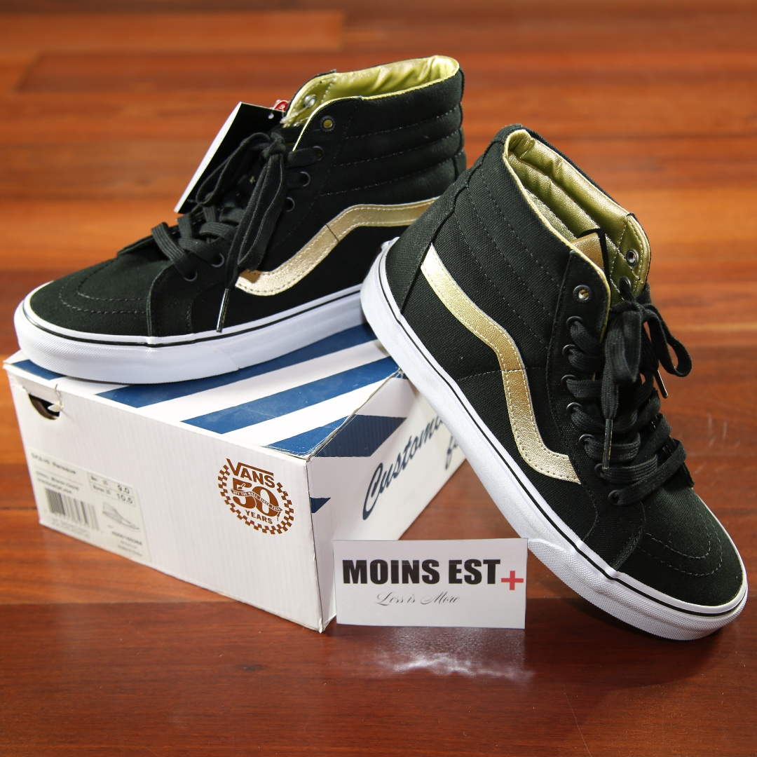 0f314a2bfd28 VANS SK8-HI Reissue (50th) Black  Gold (VN0004OKJ9A)