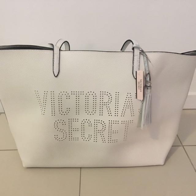 Victoria Secret New White Tote Bag