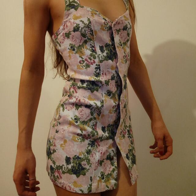Vintage Denim Mini Dress Size 8