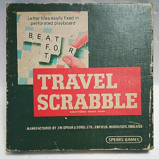 Vintage Scrabble UK Travel