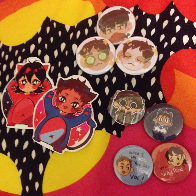 Voltron Badges, Stickers