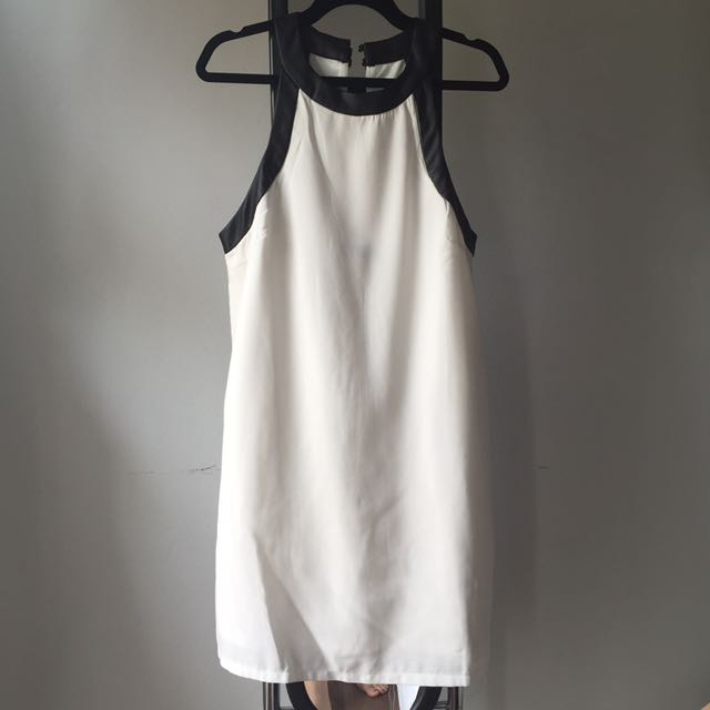 white dress (with detailed leather)