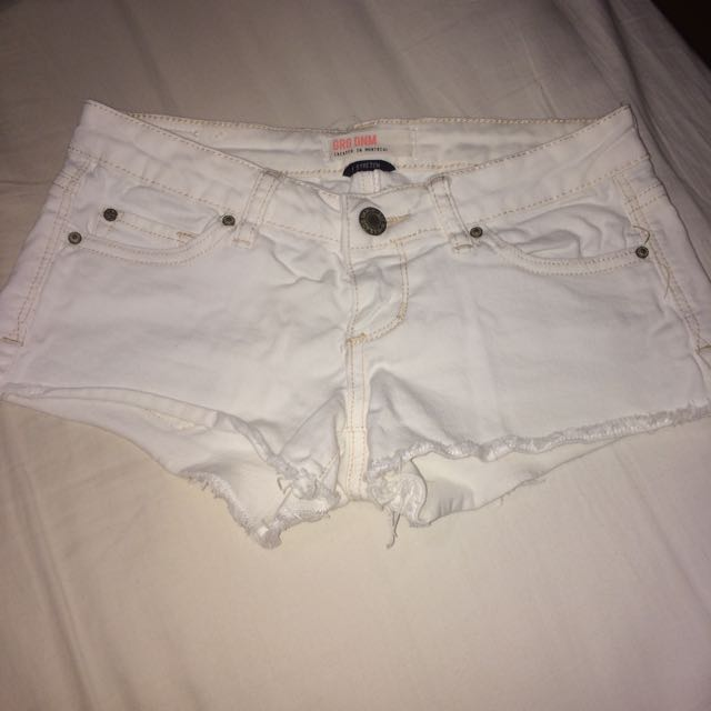 White Jean Short Shorts