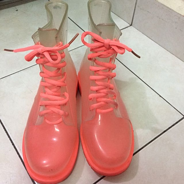 Winter Transparent Boots Shoes Anti Slip