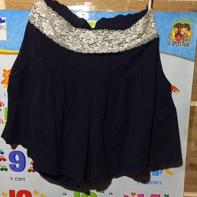 Women's navy blue shorts