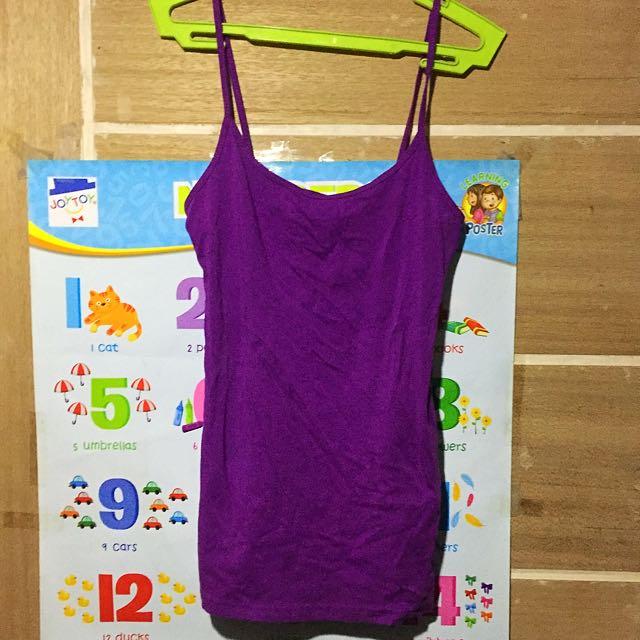 Women's purple sleeveless shirt