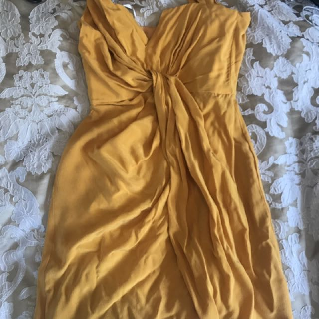 Zimmermann Knot Front Silk Dress Soz 0