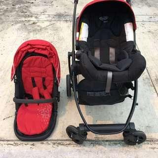 Graco Evo + Travel Stroller Set
