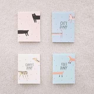 Animals Diary Plain Notepad
