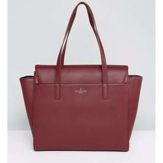 Pauls Boutique Oxblood Winged Structured Tote Bag 托特包 女用包