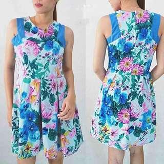 Blue Floral Dress