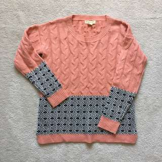 UO Coral Pink Knit Sweater