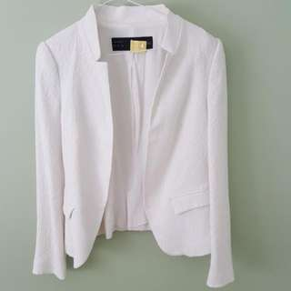 Zara white lace blazer - medium