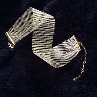 Gold Color Mesh Choker